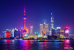 Shanghai Pudong night skyline (gunman47) Tags: december landscape asia city outdoor 24105 chinese peoples skyline asian photography night shanghai republic prc 2019 24105mm china peoplesrepublicofchina pudong huangpu river waterfront lujiazui 中国 上海 浦东 oriental pearl tower jin mao world financial center