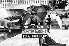 Truth & Justice (Leighton Wallis) Tags: sony alpha a7r mirrorless ilce7r 55mm f18 emount newcastle nsw newsouthwales australia invasionday firstnations aboriginal aborigine protest changethedate