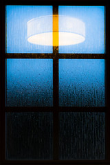 Sunset Blues (jani_alin) Tags: abstract moody window light fineartphotography fineart art blues sunsetphotography sunset vertical squares electriclight lamp