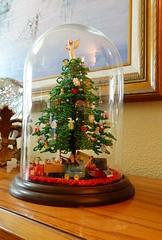 The Christmas Tree (JWE 2020) Tags: tree christmas mom love enduring sonyrx100 detail beading green glass home light valuable priceless