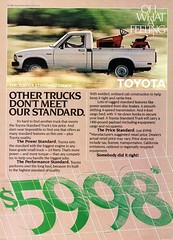1982 Toyota Standard Pickup Truck USA Original Magazine Advertisement (Darren Marlow) Tags: 1 2 8 9 19 82 1982 t toyota s standard p pick u up truck c car cool collectible collectors classic automobile v vehicle j jap japan japanese asian asia 70s