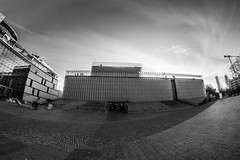 Lublin (damianf5088) Tags: samyang fisheye 8mm canon eos 1200d wideangle architecture bw blackwhite blackandwhite outdoor outside city urban town industrial stone concrete