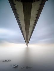 Under the Humber (Nathan J Hammonds) Tags: humber bridge fine art minimal long exposure water perspective nikon irex nisi clouds sky movement