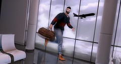Now you're just somebody that I used to know (Belchior Trevert) Tags: noche airport airplane air plane rush run fast glasses fashion male man men manly guy menswear daddy beard hairy hair second life sl secondlife 3d avatar model clothes clothe clothing mature gay