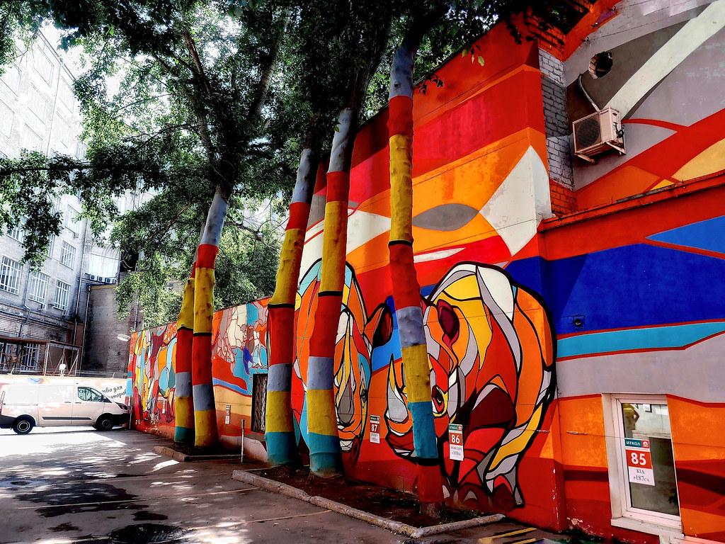 фото: Graffiti with a rhinoceros