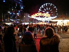 Marché de Noël (nonobio) Tags: christmas noël night nuit christmasmarket marchédenoël city ville illuminated illuminations christmaslights christmasdecoration lumièresdenoël citylife crowd foule