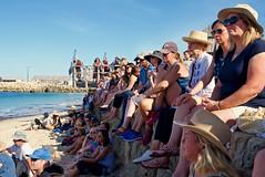 Whitefellas Litening to Blackfellas (Padmacara) Tags: australia fremantle oneday ocean sand beach people