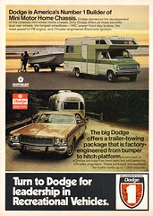 1973 Dodge Recreational Vehicles Mini Motor Homes Trailers Wagon Chrysler USA Original Magazine Advertisement (Darren Marlow) Tags: 1 3 7 9 19 73 1973 d dodge r recreational v vehicles p pick u up c camper w wagon t trailer car chrysler cool collectible collectors classic a automobile vehicle s us usa united states american america 70s