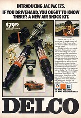 1973 Delco JAC PAC 175 Air Shock Absorber Kit Chevrolet Camaro USA Original Magazine Advertisement (Darren Marlow) Tags: 1 3 7 9 19 73 1973 d delco g m gm general motors a air s shock absorbers j c p jac pac 175 chev chevrolet chevy camaro car v vehicle automobile u us usa united states american america 70s