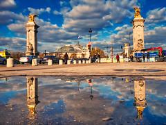 Beautiful Paris (jeromedelaunay_paris) Tags: bridge sky sun paris france seine clouds europe alexandreiii iloveparis parisjetaime cityscape cities streetview city people tourism colors landscape grandpalais parismonamour