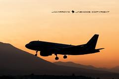 VOLOTEA EC-MUY (José Mª Arroyo) Tags: volotea ecmuy airbus a320 aeropuertodemálaga málaga aviación aviacióncivil avionescomerciales contraluz sunset ocaso atardecer