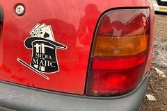 Micra Majic (Sam Tait) Tags: 1997 red nissan micra 10 16v shape majic