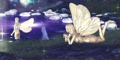 Watching Him in Admiration (koro/carnell) Tags: secondlife fairy fantasy forest unicorn