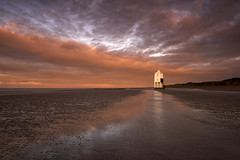Solitude (Tracey Whitefoot) Tags: 2020 tracey whitefoot burnham sea low lighthouse coast coastal somerset tide sunrise dawn sand beach clouds reflection reflections