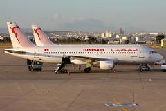 TS-IMM Tunisair Airbus A320-211 (buchroeder.paul) Tags: tsimm tunisair airbus a320211 dtta tun tunis carthage international airport tunisia kartago tunesien flughafen ground boden dawn morgen airside