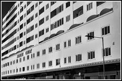 Full Frontal, Hastings. (tony allan tony allan) Tags: m42 manualfocus monochrome mono architecture building blackwhite blackandwhite urbanperspectives urban sonya6000 carlzeissjenatessar50mmlens