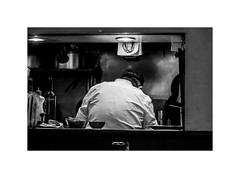Reliable chef (odeleapple) Tags: olympus omd em1 zuiko digital 50mm monochrome bw cook chef kitchen