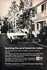 1972 Champion Spark Plugs Mzda RX-2 Rotary USA Original Magazine Advertisement (Darren Marlow) Tags: 1 2 7 9 19 72 1972 c champion s spark p plugs m mazda r x rx2 rotary car a automobile v vehicle e engine 70s