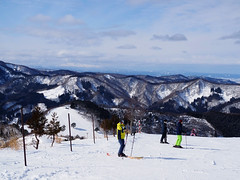 Distant view of Mt.Chokai (murozo) Tags: ski area sky snow winter mountain mtchokai higashinaruse akita japan スキー場 ジュネス栗駒 雪 冬 山 空 鳥海山 東成瀬 秋田 日本
