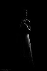 You can look with your eyes, but you will see with your senses (Vivamus Passion) Tags: shadow woman female sens pretty darkness body young sensual polishmodel portrait art dress monochrome