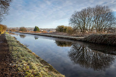 SJ2_0829  - A winter's tale (SWJuk) Tags: burnley england unitedkingdom swjuk uk gb britain lancashire home canal leedsliverpoolcanal frost ice water flat calm reflections towpath trees vanishingpoint bluesky clouds cloudformation 2020 jan2020 winter nikon d7200 nikond7200 nikkor1755mmf28 rawnef lightroomclassiccc