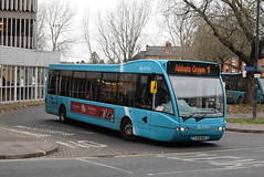 AMN 2974 @ Shrewsbury bus station (ianjpoole) Tags: arriva midlands optare versa v1100 yj09mkm 2974 working route 1 shrewsbury bus station spar shops monkmoor