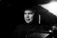 (archangelse) Tags: portrait sweden stockholm huddinge man documentary reportage reflection sun light mood bw blackandwhite noiretblanc shades shadow reflective window