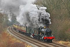 4953 Pitchford Hall & 6990 Witherslack Hall (gareth46233) Tags: 4953 6990 pitchford witherslack hall kinchley lane gcr great central railway gwr smoke clag