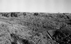 Ogden Kirk and footbridge at Ogden Clough (Richie Rue) Tags: landscape yorkshire brontecountry bridge moors moorland blackandwhite monochrome bnw bw 35mm film analogue foma fomapan400 fomadon excel mindfulphotography contemplativephotography