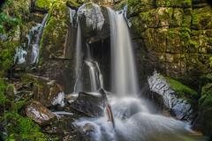 """Der """"große"""" Höllbach-Wasserfall 2, Langzeitbelichtung"""