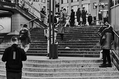Underground (michaelhertel) Tags: sw mono monochrome bw street people streetphotographie frankfurt germany deutschland fuji fujifilm fujifilmxe3 pentax pentaxsmc5014
