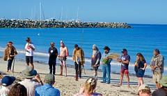Ezra Jacobs Speaking (Padmacara) Tags: australia fremantle oneday ocean sand beach people