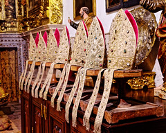 Mitres (Croydon Clicker) Tags: mitres hats bishop church cathedral display jewels lisbon portugal nikon sigma