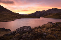 Rising Sun (Thibaud Chanfray) Tags: sunrise nelson lakes doc national park nz newzealand sunset mountain outdoor peak south island landscape scenery hut tent camping road trip