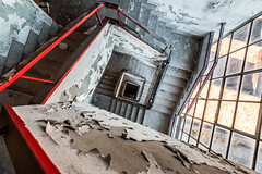Profondo Rosso (maxmene70) Tags: urbex decay abandoned stair canon light factory travel tripod