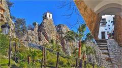 LAS JOYAS ESCONDIDAS DE ALICANTE II (Angelines3) Tags: rocas árboles iglesia peña guadalets tunel palmeras cielo collage comunidadvalenciana alicante costablanca