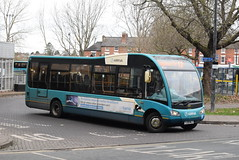 AMN 2519 @ Shrewsbury bus station (ianjpoole) Tags: arriva midlands optare solo m925sr yj09mlz 2519 working route 12 shrewsbury bus station no 3 shelton