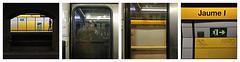 barcelona 72 (beauty of all things) Tags: espana spanien barcelona metro station quadratisch quadrichon gelb yellow selfs dergespiegeltefotograf jaume