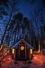 Hut (Arttu Uusitalo) Tags: grill hut night sky evening light stars wideangle landscape winter north ostrobothnia finland snow long exposure blue canon eos 5d samyang
