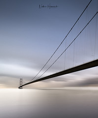 Under the Humber 2 (Nathan J Hammonds) Tags: humber bridge water long exposure perspective clouds movement nikon irex nisi fine art