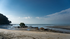 Great day (Ajai Arif) Tags: water beach sand sea seascape summer sky surf nature landscape sunset horizontal blue colorimage wide nopeople watersedge sun sunny outdoors day coastline wideshot wideangle nonurbanscene scenicsnature sony a6300 selp1650