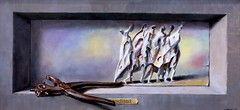 IMG_3516 Wolfgang Lettl 1919-2008 Augsbourg  Abschied  Farewell  Adieu 1986 Augsburg Schaezlerpalais  Exposition temporaire à l'occasion du centenaire de la naissance de l'artiste. Temporary exhibition to mark the centenary of the artist's birth. (jean louis mazieres) Tags: peintres peintures painting musée museum museo deutschland germany augsburg schaezlerpalais wolfganglettl