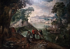 Paisaje con pescadores (1601-1625). Anónimo flamenco. Biblioteca Museu Víctor Balaguer. Landscape with fishermen (Antonio Ventaja) Tags: bibliotecamuseuvictorbalaguer painting pintura paisaje landscape