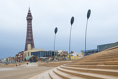 Blackpool Tower and The Waving Fronds (Geoff France) Tags: blackpool tower beach landscape seaside sand shore blackpooltower coastallandscape