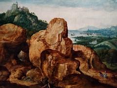 Paisaje con la Huida a Egipto (1545-1550). Cornelis Metsys. Museu Nacional d'Art de Catalunya. Landscape with the Flight to Egypt (Antonio Ventaja) Tags: museunacionaldartdecatalunya paisaje pintura painting landscape