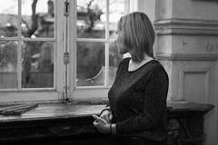 Derrière la fenêtre (musette thierry) Tags: musette thierry d800 nikon 50mm18 nikkor portrait girl fille femme noiretblanc blackandwhite