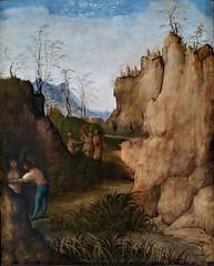 Ladón y Siringe (1510). Giovanni Agostino da Lodi. Museu Nacional d'Art de Catalunya. Ladon and Sirynx (Antonio Ventaja) Tags: paisaje pintura landscape museo barcelona museunacionaldartdecatalunya
