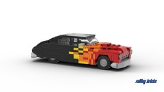 Mercury Lead Sled - INSTRUCTIONS - (Rolling bricks) Tags: lead sled leadsled custom coupe retro lego speed champions speedchampions oldtimer car legocar vintage classic classiccar instructions 6studs 6wide minifig minifigure city musclecar muscle moc vehicle