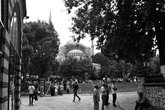 where ... (n.okyayli) Tags: istanbul sultanahmet analog 35mm bw blackandwhite ilford film canon