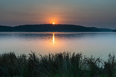 Soft and Gentle Sunrise over the Bay (Merrillie) Tags: daybreak woywoy smokehaze nature australia foreshore newsouthwales earlymorning morning brisbanewater hazy bay sky nsw coastal landscape outdoors waterscape sunrise centralcoast dawn water